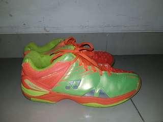 [100% ORIGINAL] Sepatu Bulutangkis Yonex // Yonex badminton shoes - SCRP 01 LCW - orange