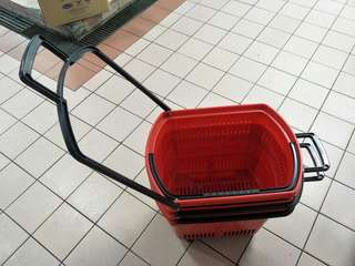 Shopping basket and trolley
