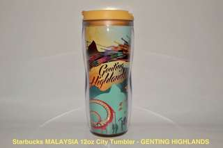 Starbucks MALAYSIA 12oz City Tumbler - GENTING HIGHLANDS