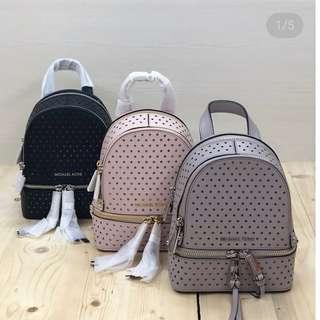 READY STOCK michael kors rhea mini backpack