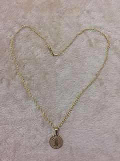 Gold plated non tarnish necklace