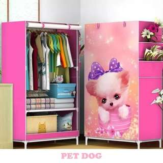 Single motif pet dog lemari serbaguna