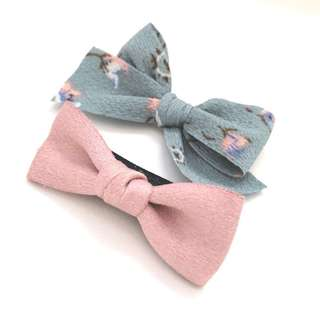 🚚 One for $4 / Two for $7: Baby Hairclip-Hand tied bow