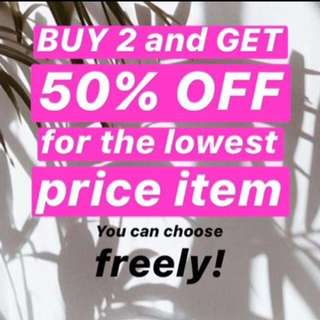 Buy 2 Get 50% Off*
