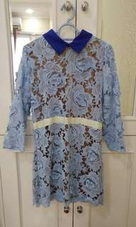 Prada blue lace dress