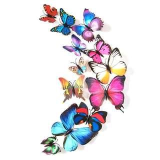 Stiker dinding 3D kupu-kupu