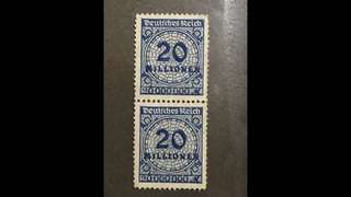 Germany early stamps pair mint no gum