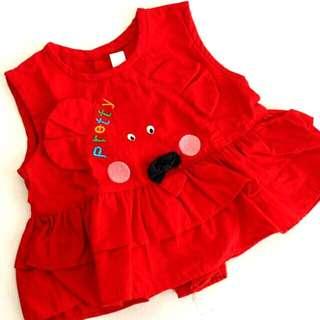 Dress bayi merah