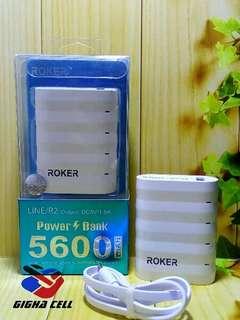 Powerbank ROKER 5600Mah Realcapacity Garansi/(tdk mdh kotor)