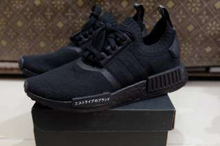Adidas NMD R1 PK Japan Triple Black 10000% authentic original