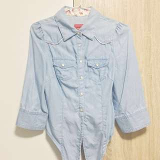 🚚 Cotton-Denim Shirt (button-up)