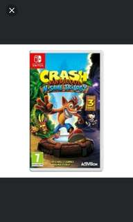 Switch Crash Bandicoot N-Sane Trilogy