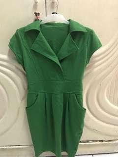 Dress hijau all size
