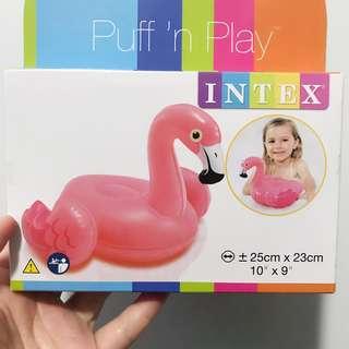 Bath toy puff n play flamingo