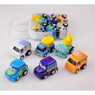 Ready Stock 6 pack set Mini Toy Cars Push Pull Back Car Play