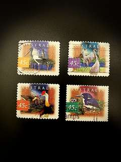Australia Stamps (Set of 4) Birds