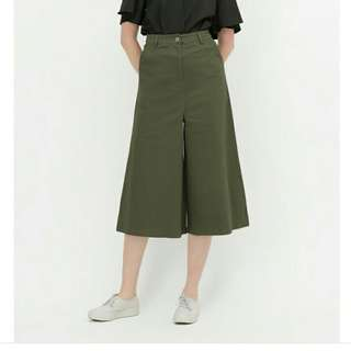 🚚 OLIVE GREEN CULOTTES JEANS