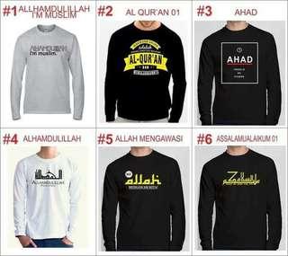 Kaos Sablon Muslim Lengan Panjang 02