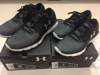 98% new Under Armour Speedform Fortis 2 (couple shoes available)
