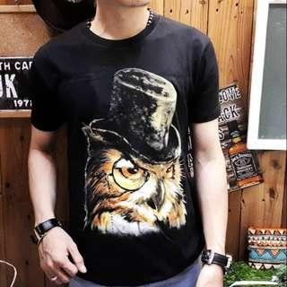Kaos distro pria hat owl