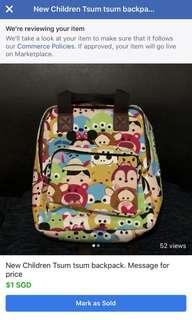 New Tsum tsum children backpack