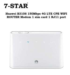 Huawei B310S-22 150Mbps 3G/4G LTE CPE WIFI Wireless Mobile Router Modem 1 sim card router 1 RJ11 port (White)