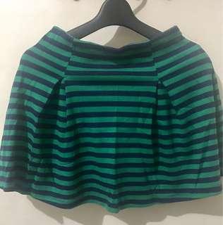 Forever 21 Skirt (blue and green stripes)