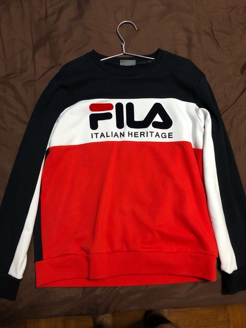 Authentic fila pull over, Men's Fashion, Clothes, Tops on ...