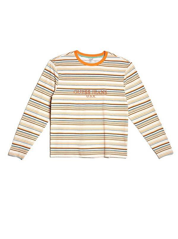 c6adeab34596 Authentic Guess USA x A$AP Rocky Striped Long Sleeve T-shirt, Women's  Fashion, Clothes, Tops on Carousell