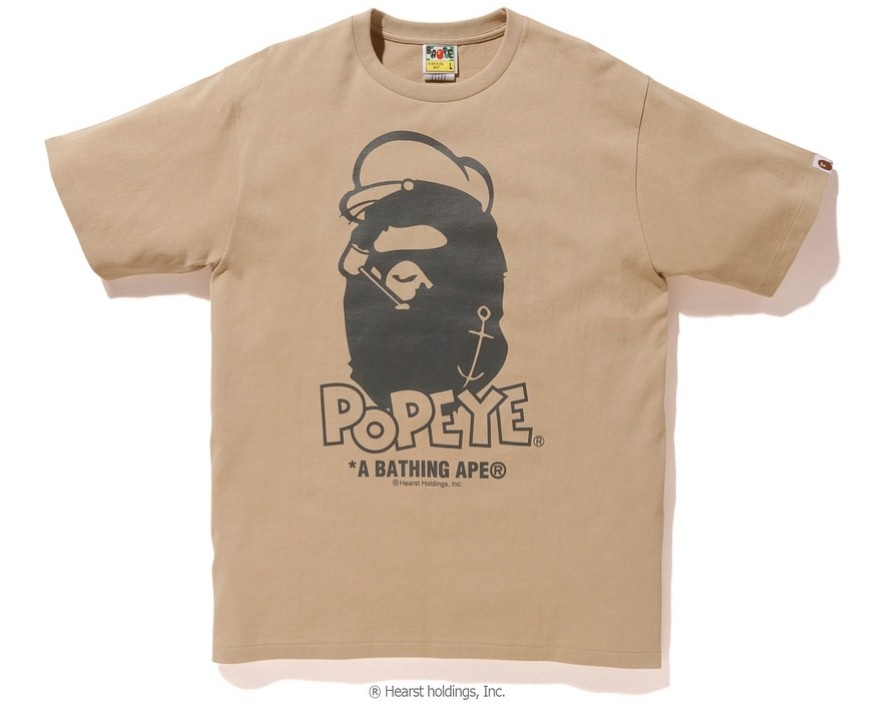 2cc72e5d BAPE POPEYE x BAPE APE HEAD TEE, Men's Fashion, Clothes, Others on ...