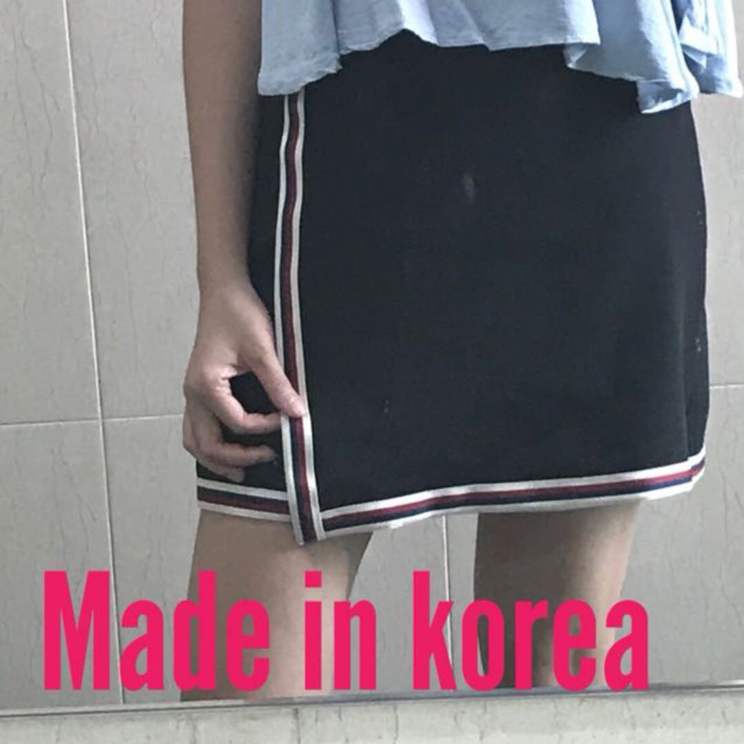 Black casual student office work skirt kpop korean mini