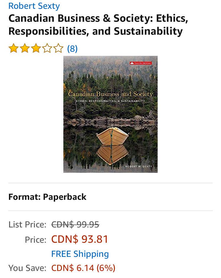Canadian Business and Society - 4th edition