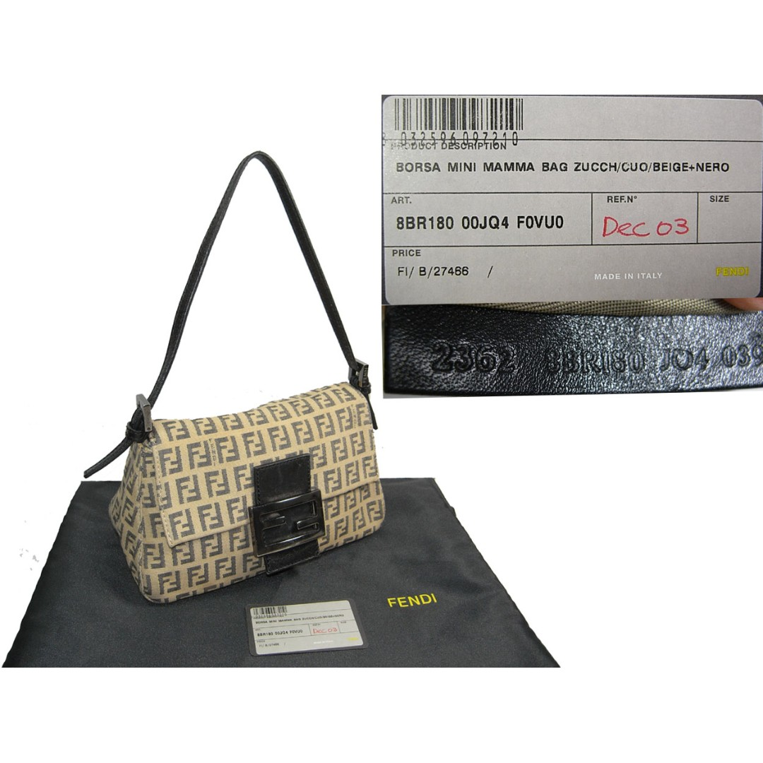 47b479828788 Fendi 8BR180 Blue Zucchino Mini Mama Baguette Bag