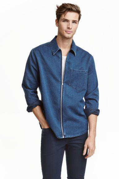H&M Men's denim zip jacket