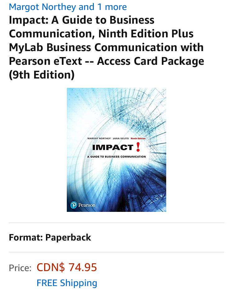 Impact! (9th edition) and The Little Pearson Handbook (3rd edition)