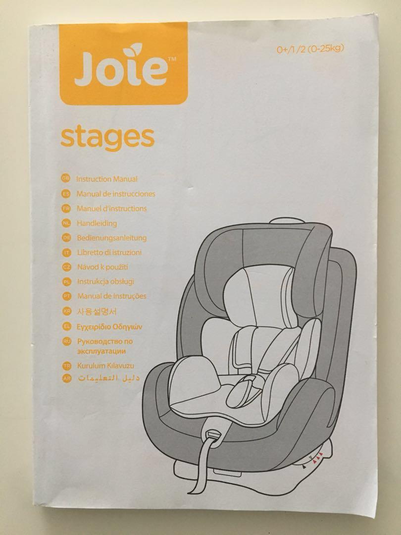 Joie Car Seat Instruction Manual Car Seat Instruction Manuals Joie
