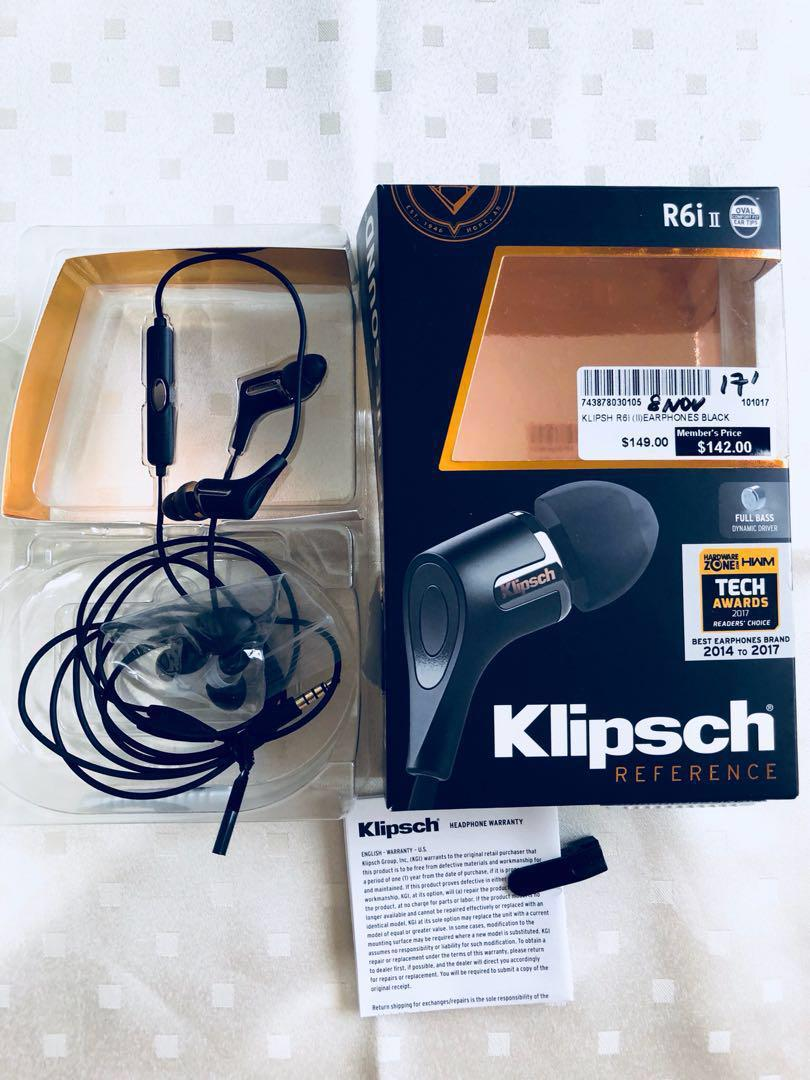 Klipsch R6i In-Ear Headphones, Electronics, Others on Carousell