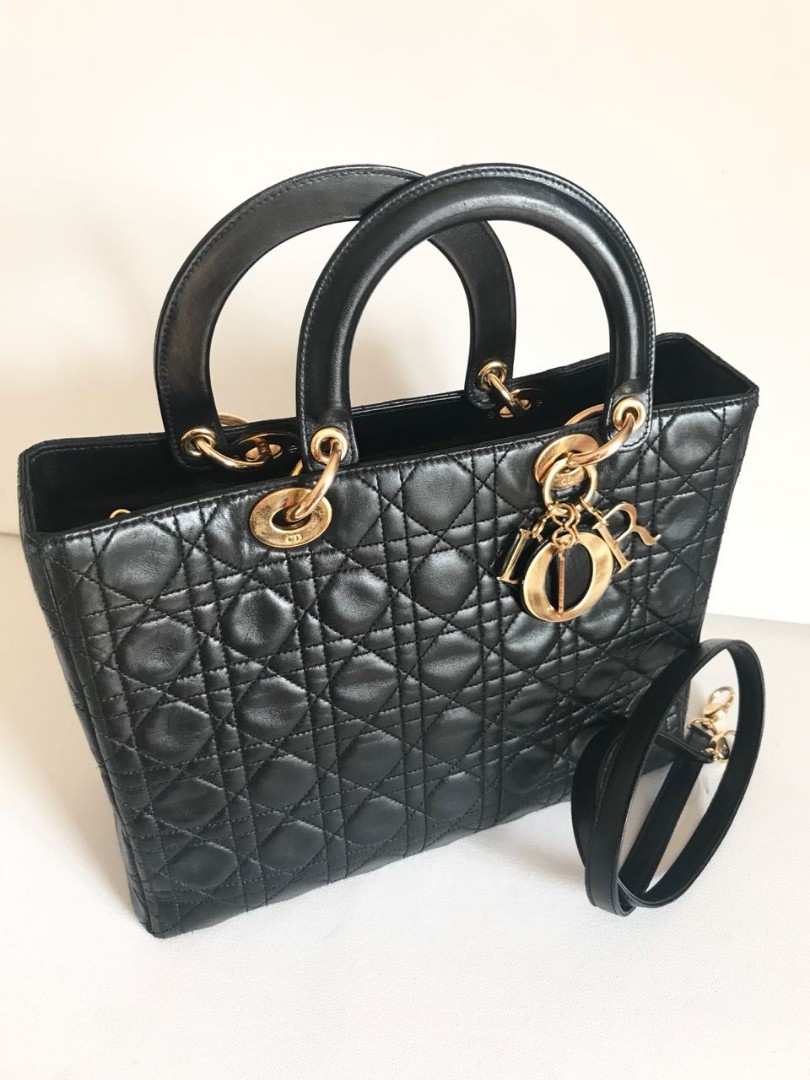 f37452b702 Lady Dior Bag Large, Luxury, Bags & Wallets, Handbags on Carousell