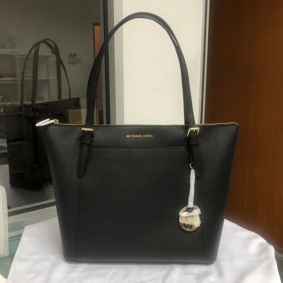dcfba8492143 Michael Kors Ciara Large EW TZ Tote Blacj, Luxury, Bags & Wallets, Handbags  on Carousell