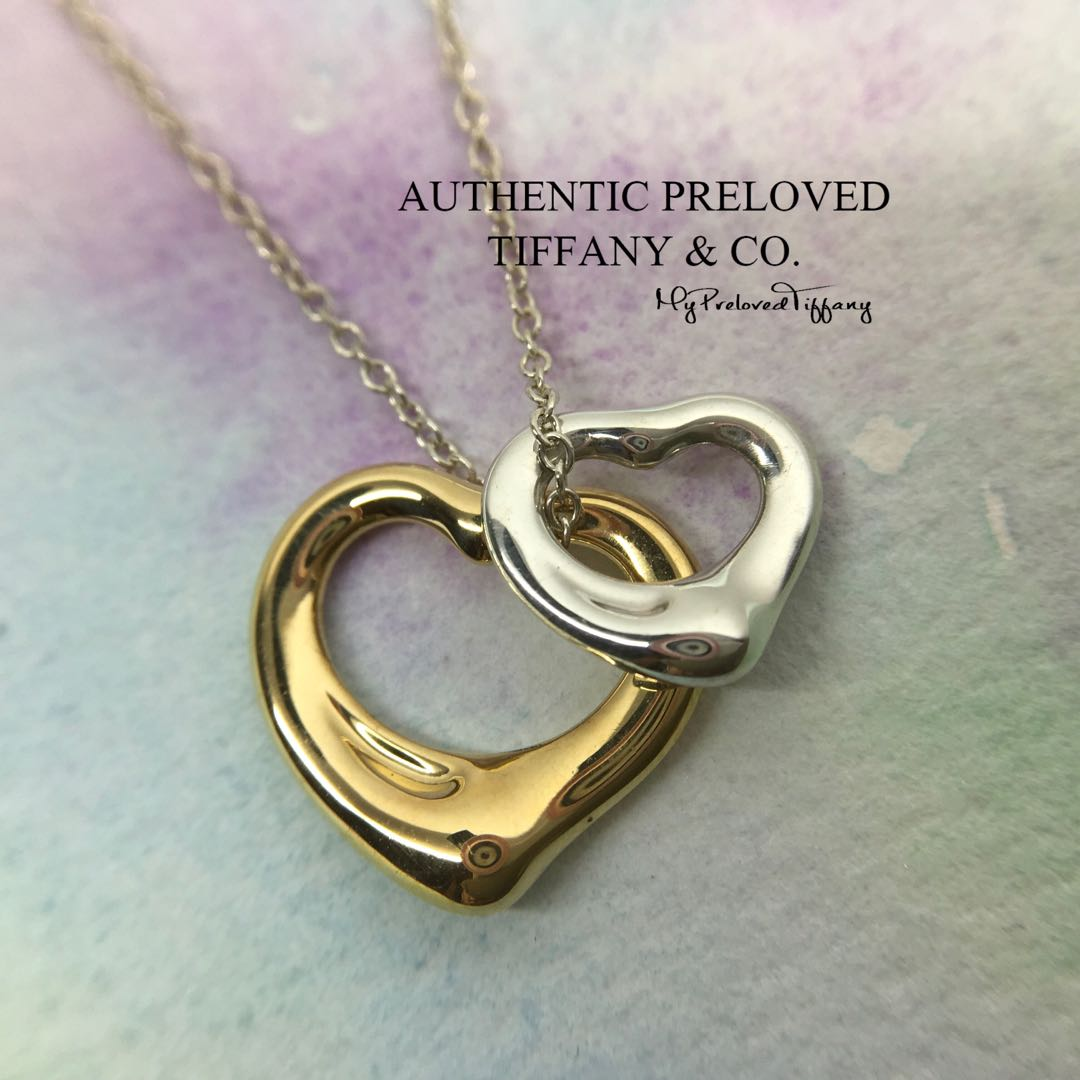 afd29e810b7 Mint Authentic Tiffany & Co Elsa Peretti Open Heart Yellow Gold Silver  Necklace, Women's Fashion, Jewellery, Necklaces on Carousell