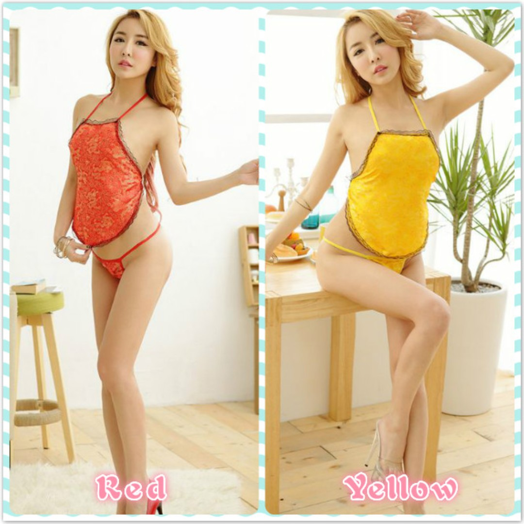 Muimui Sexy Women Silk Chinese Style Nightdress Lingerie Red ... 12fa7a830c