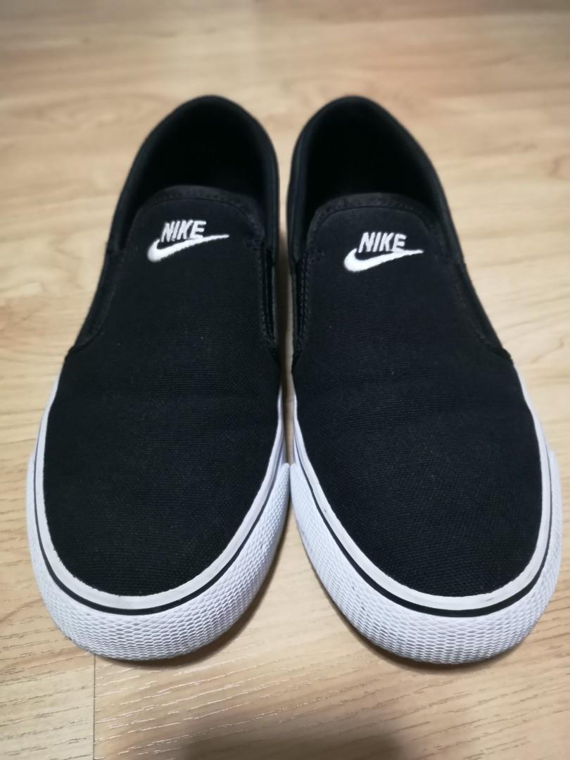 d01b6ed12 Women Nike Toki Slip-On Canvas Black