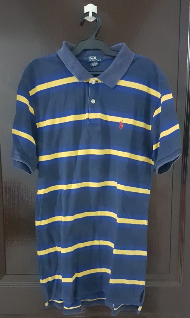 d9c7afe36a7 ... clearance polo by ralph lauren blue striped polo shirt mens fashion  clothes tops on carousell 6c0ca