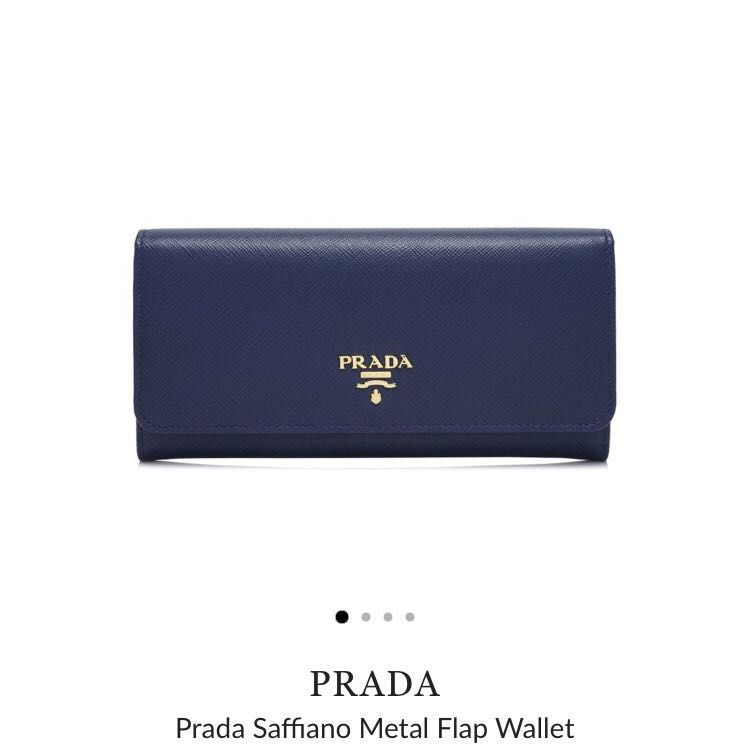 e16c071a75ca ... france prada saffiano metal flap wallet womens fashion bags wallets  f116f aad33