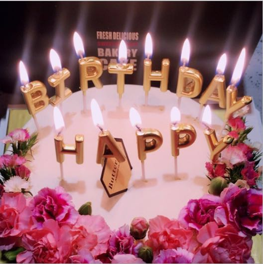 Rose Gold Alphabet Happy Birthday Cake Topper Candle Home Appliances On Carousell