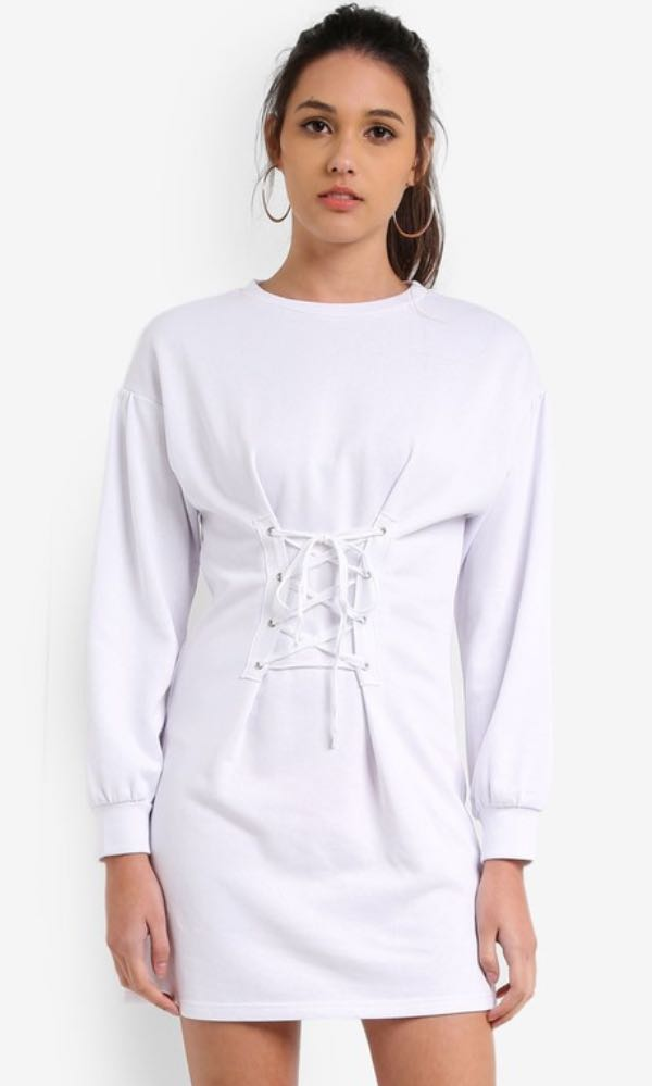5ccc05975eb Something Borrowed Tie Front Sweater Dress