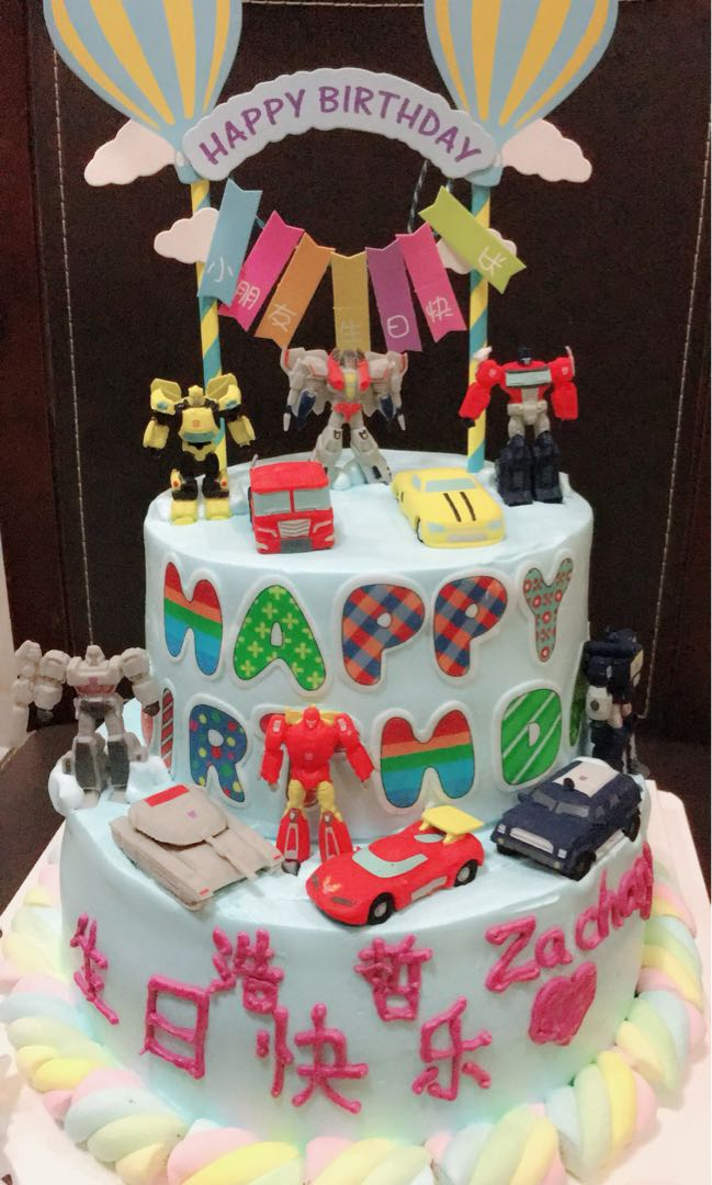 Transformers 2 Layer Birthday Cake Food Drinks Baked Goods On Carousell