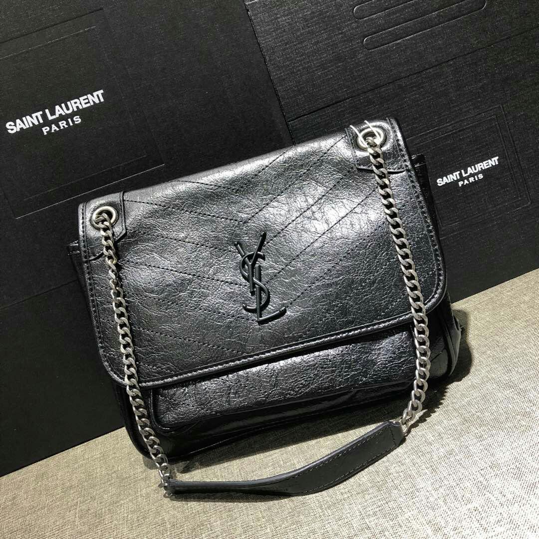 Saint Laurent Niki Bag Leather Black Color f5d2542353f52