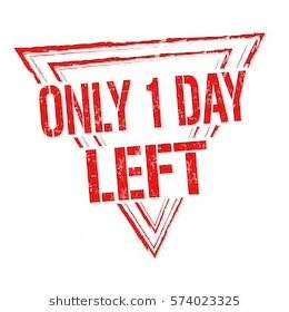Only 24 hours LEFT!!!