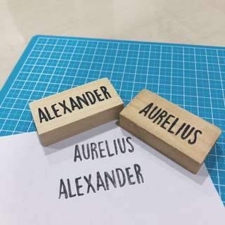Customised Name Rubber Stamps